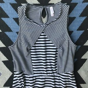 Xhilaration Dresses - Xhilaration - black and white stripped dress